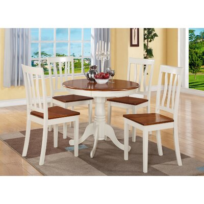Woodward Traditional 5 Piece Dining Set Finish: Buttermilk Cherry, Chair Upholstery: Non-Upholstered Wood