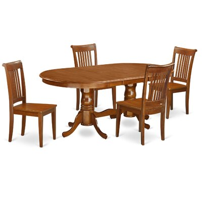 Germantown 5 Piece Dining Set Chair Upholstery: Non-Upholstered Wood
