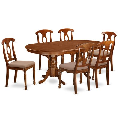 Germantown 7 Piece Dining Set Chair Upholstery: Microfiber