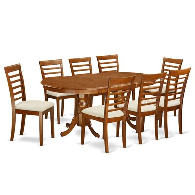 Germantown 9 Piece Dining Set Chair Upholstery: Microfiber