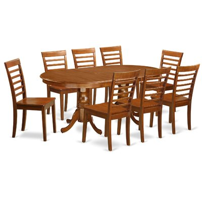 Germantown 9 Piece Dining Set Chair Upholstery: Non-Upholstered Wood