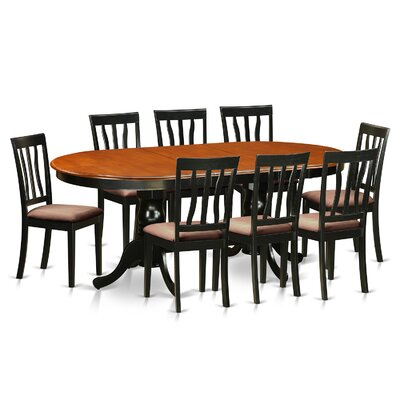Germantown 9 Piece Dining Set Upholstery: Microfiber Upholstery