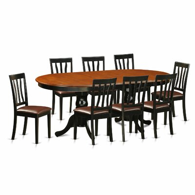 Germantown 9 Piece Dining Set Upholstery: Faux Leather