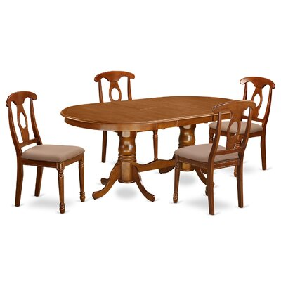 Germantown 5 Piece Dining Set Chair Upholstery: Microfiber