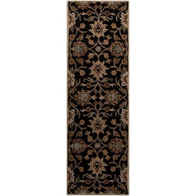 Ferrer Hand-Tufted Black Area Rug Rug Size: Runner 26 x 8