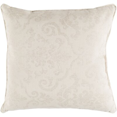 Fitchburg Indoor/Outdoor Throw Pillow Size: 20 H x 20 W x 0.25 D, Color: Cream