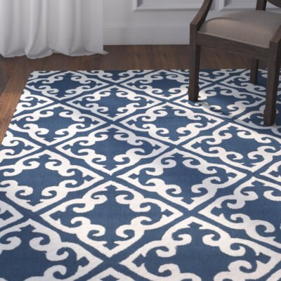 Lima Navy/Ivory Area Rug Rug Size: Rectangle 8 x 10