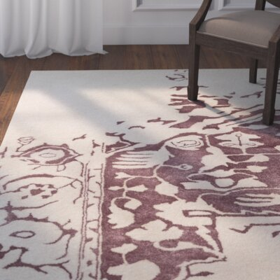 Bourbonnais Hand-Tufted Gray/Brown Area Rug