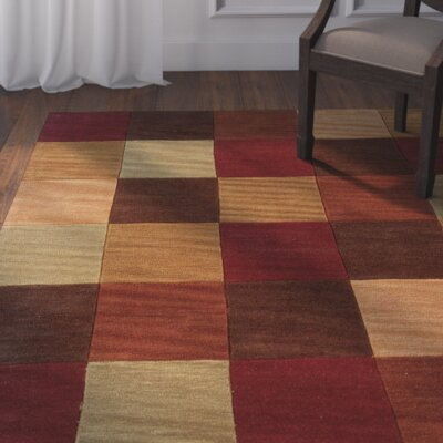 Westford Hand-Tufted Dark Red Area Rug