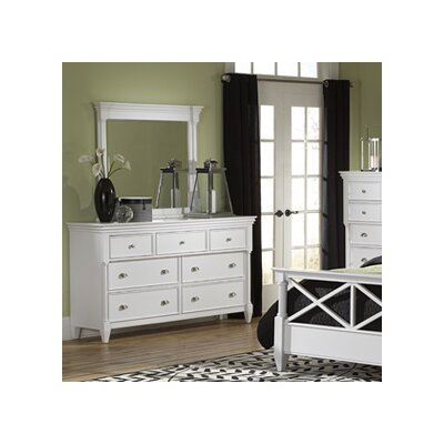 McLelland 7 Drawer Dresser with Mirror