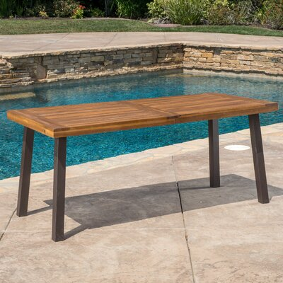 Isidore Outdoor Wood Dining Table Finish: Teak