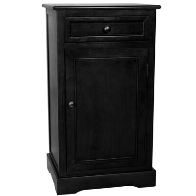 Destin Design 1 Drawer Nightstand Color: Black