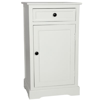 Gaylord 1 Drawer Nightstand FINISH: White