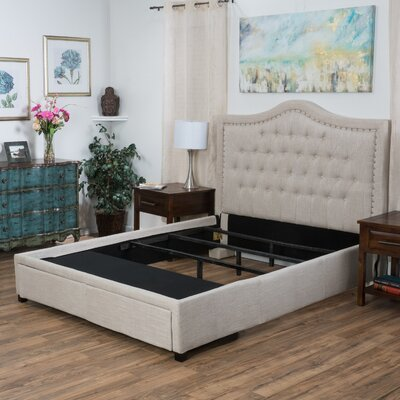 Saltsman Upholstered Storage Panel Bed Size: King