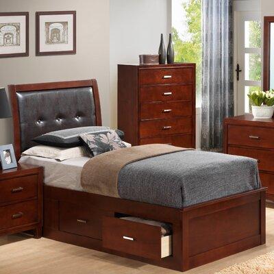 Acres Upholstered Storage Platform Bed Finish: Cherry, Size: Twin