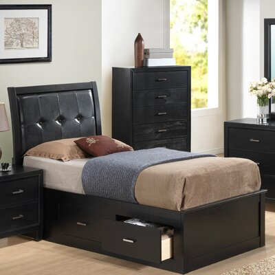 Hoytville Upholstered Storage Platform Bed Size: King, Finish: Black