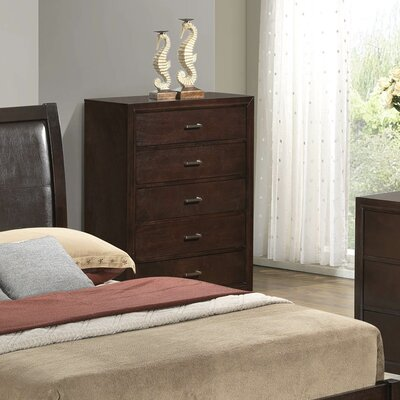Hoytville 5 Drawer Chest Color: Cappucino