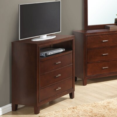 Hoytville 3 Drawer Media Chest Color: Cherry