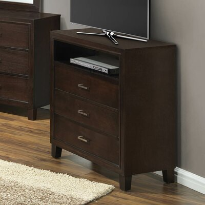 Hoytville 3 Drawer Media Chest Color: Cappucino