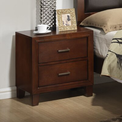 Hoytville 2 Drawer Nightstand Finish: Cherry