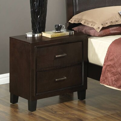 Hoytville 2 Drawer Nightstand Color: Cappucino