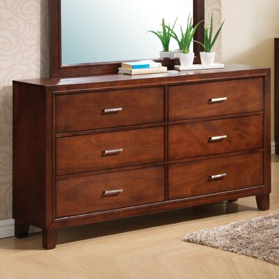 Hoytville 6 Drawer Dresser Color: Cherry