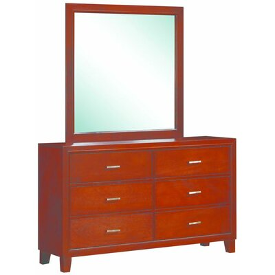 Acres 6 Drawer Dresser with Mirror