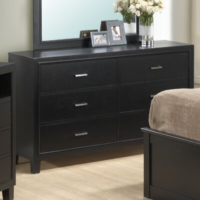 Hoytville 6 Drawer Dresser Color: Black