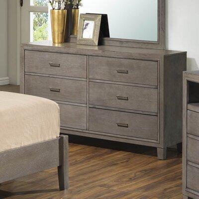Acres 6 Drawer Dresser Finish: Gray
