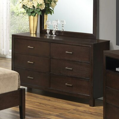 Hoytville 6 Drawer Dresser Color: Cappucino