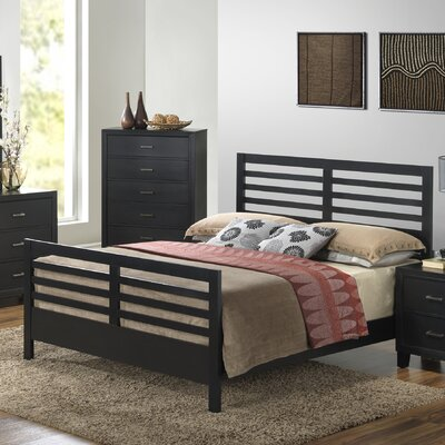 Acres Panel Bed Size: Queen, Finish: Black