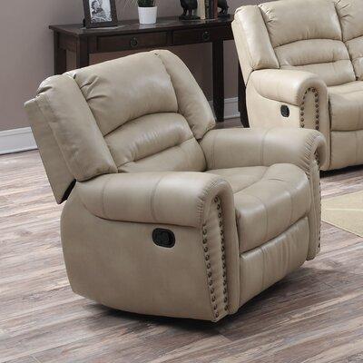 Dover Rocker Recliner Upholstery: Mushroom