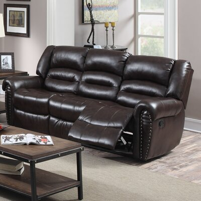 Dover Reclining Loveseat Upholstery: Cappuccino