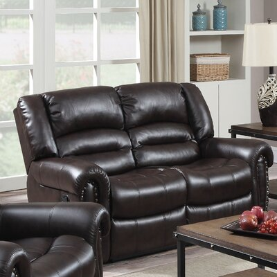 Dover Reclining Loveseat Color: Cappuccino