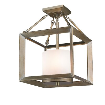 Ginsberg 3-Light Semi Flush Mount Finish: White Gold