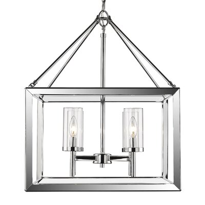 Thorne Modern 4-Light Foyer Pendant Shade Color: Clear