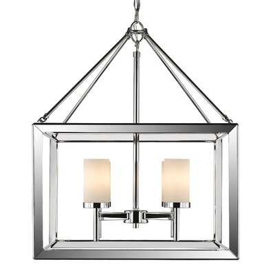 Coxsackie Modern 4-Light Foyer Pendant Shade Color: Opal