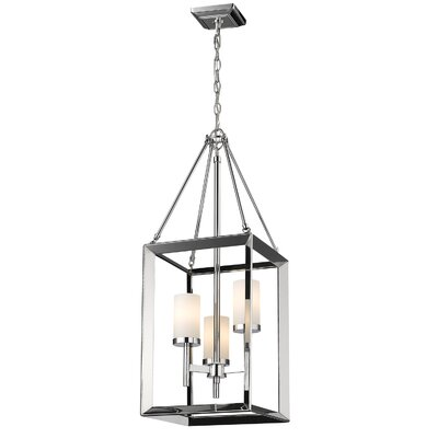 Coxsackie 3-Light Chrome Foyer Pendant Shade Color: Opal