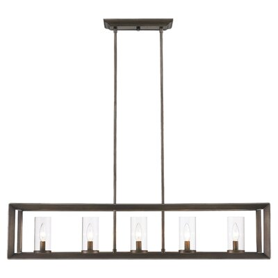 Coxsackie 5-Light Glass Shade Kitchen Island Pendant
