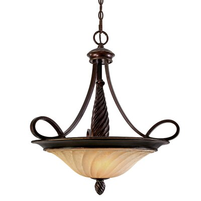 Hoopeston 3-Light Bowl Inverted Pendant Height: 25.25