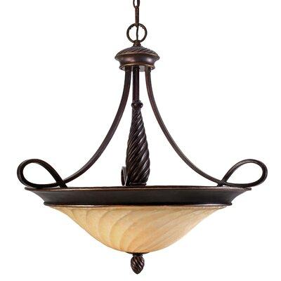 Hoopeston 3-Light Bowl Inverted Pendant Height: 28.75
