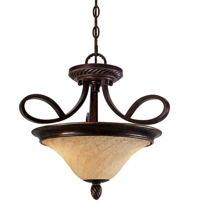 Hoopeston 2-Lights Convertible Inverted Pendant