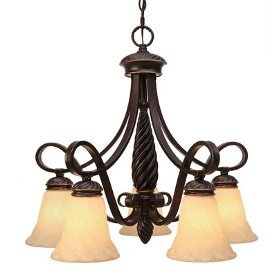 Hoopeston 5-Light Shaded Chandelier