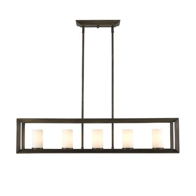 Coxsackie 5-Light Gunmetal Bronze Kitchen Island Pendant