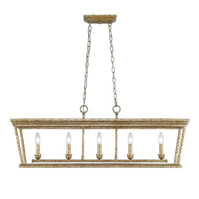 Northfield 5-Light Kitchen Island Pendant Finish: Luxe Gold
