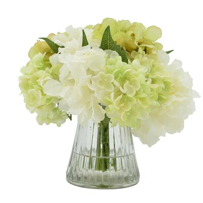White and Green Hydrangea Bouquet