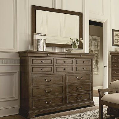 Pond Brook 14 Drawer Dresser with Mirror