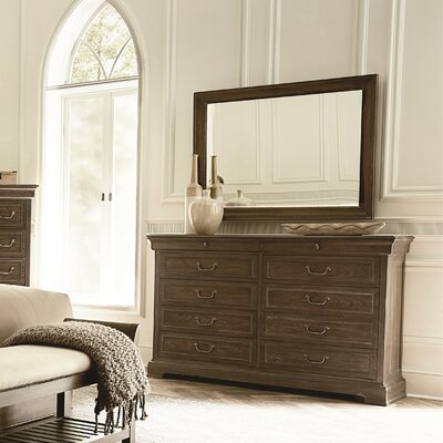 Pond Brook 10 Drawer Double Dresser with Mirror