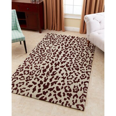 Kingston-upon-Hull Hand-Tufted Maroon Brown Area Rug Rug Size: 5 x 8