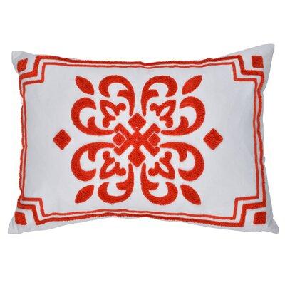 Fredericksburg Embroidered Cotton Throw Pillow